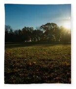 Golden Dew Autumn Sunrise Fleece Blanket