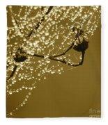 Golden Dewdrops Fleece Blanket