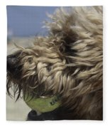Golden Doodle And His Ball Fleece Blanket