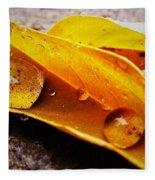 Golden Droplets Fleece Blanket