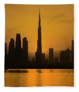 Golden Dubai Fleece Blanket