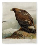Golden Eagle By Thorburn Fleece Blanket