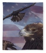 Golden Eagle Collage Fleece Blanket