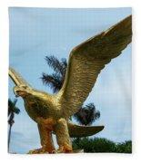 Golden Eagle Take Off Fleece Blanket