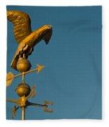 Golden Eagle Weather Vane Fleece Blanket