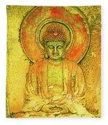 Golden Enlightenment Fleece Blanket
