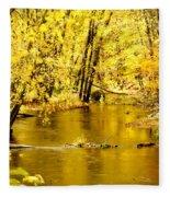 Golden Fall  Fleece Blanket
