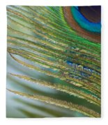 Golden Feather Fleece Blanket