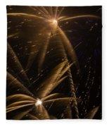 Golden Fireworks Fleece Blanket