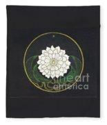 Golden Flower Mandala Fleece Blanket