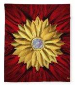 Golden Flower Fleece Blanket