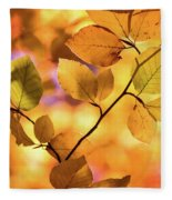 Golden Foliage Fleece Blanket