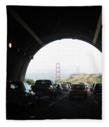 Golden Gate Bridge From Tunnel Fleece Blanket