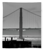 Golden Gate Bridge In Its Beauty At Sunset Fleece Blanket