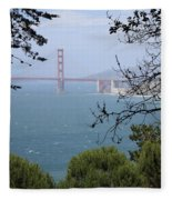 Golden Gate Bridge Through The Trees Fleece Blanket