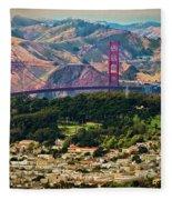 Golden Gate Bridge - Twin Peaks Fleece Blanket