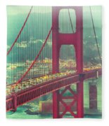 Golden Gate Portrait Fleece Blanket