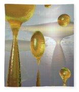 Golden Globs Fleece Blanket