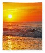 Golden Glory Fleece Blanket