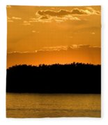 Golden Glow Sunset Fleece Blanket