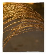 Golden Grass Fleece Blanket