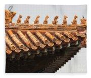 Golden Guardians Of The Forbidden City Fleece Blanket