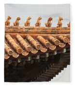 Golden Guardians Of The Forbidden City Fleece Blanket