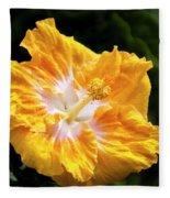 Golden Hibiscus - Hawaii Fleece Blanket