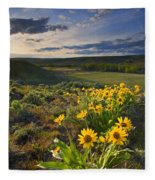 Golden Hills Fleece Blanket