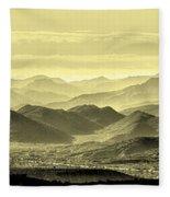 Golden Hills Of The Tonto Fleece Blanket