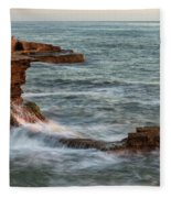 Golden Hour At Sunset Cliffs Fleece Blanket