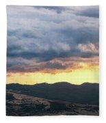Golden Hour In Volterra Fleece Blanket