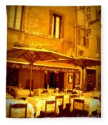 Golden Italian Cafe Fleece Blanket