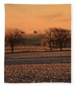 Golden Land Fleece Blanket
