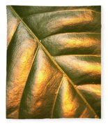 Golden Leaf Fleece Blanket