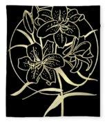 Golden Lilies Fleece Blanket