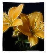 Golden Lilies Fleece Blanket