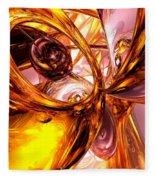 Golden Maelstrom Abstract Fleece Blanket