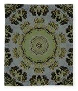 Mandala In Pewter And Gold Fleece Blanket