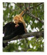 Golden Monkey Fleece Blanket