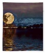 Golden Moon Fleece Blanket