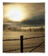 Golden Morning Fleece Blanket