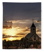 Golden Morning Light  Fleece Blanket