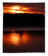 Golden Night Fleece Blanket