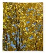 Golden October Fleece Blanket