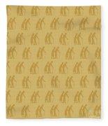 Golden Oldies Wallpaper Fleece Blanket