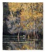 Golden On The River Fleece Blanket