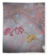Golden Orchid Fleece Blanket
