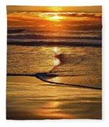 Golden Pacific Sunset Fleece Blanket