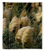 Golden Pampas In The Wind Fleece Blanket